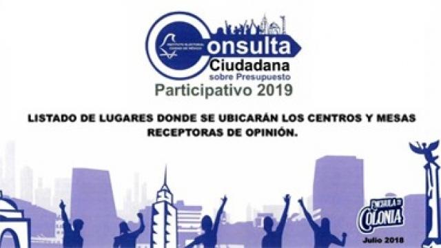 Consulta Ciudadana sobre Presupuesto Participativo 2019