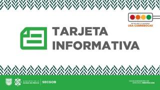 Tarjeta Informativa: Medidas aplicadas por celebración anual de San Judas Tadeo